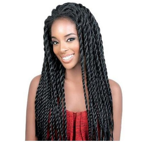 Braid Wig Lace Front Synthetic Senegalese Twist Braid Wig For Black Women
