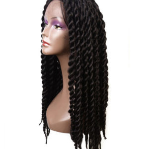braided lace front wigs long