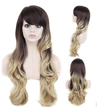 Long Wavy Wig Synthetic Blonde Ombre Wig Curly Wigs For Black Women c3cadc208