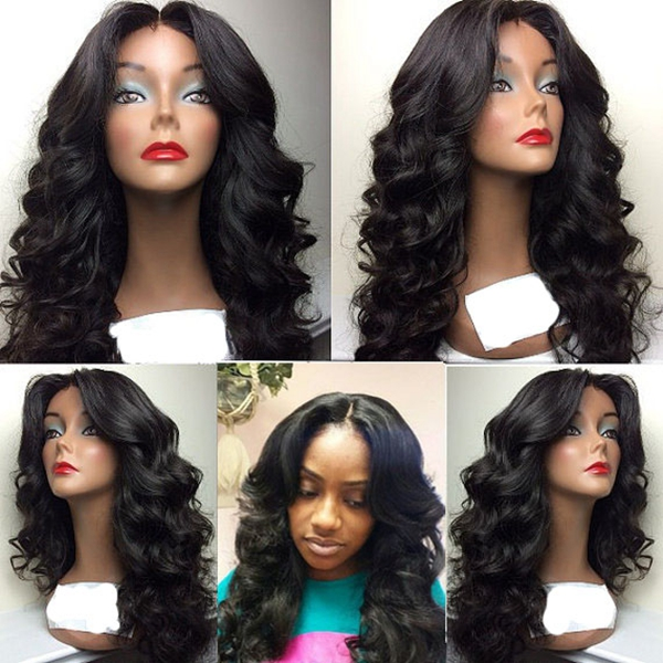 Lace Front Body Wave Wig Synthetic Middle Part Wigs For