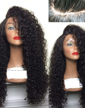 Lace Front Curly Wig Synthetic Long Kinky Curly Wigs for Black Women