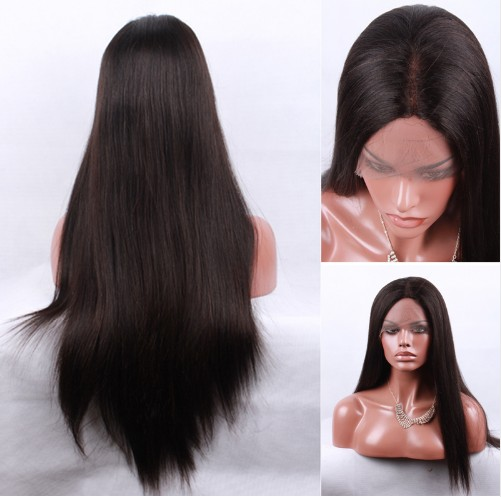 Lace Front Human Hair Wigs Brazilian Silky Stright Wigs For Black Women