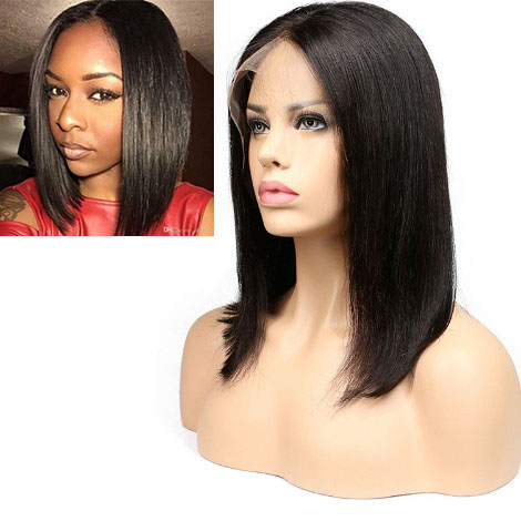 Bob Wig Lace Front Human Hair Straight Short Wigs for Black Women