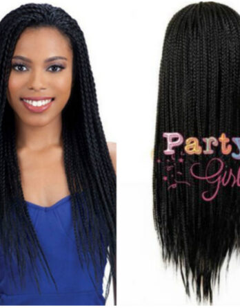 None Lace Braided Wigs Micro Box Braid Wigs Long Synthetic Afro Braid Hair