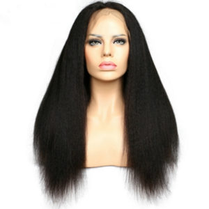 kinky Straight Wig Lace Front Full Lace Human Hair Yaki Straight Wigs