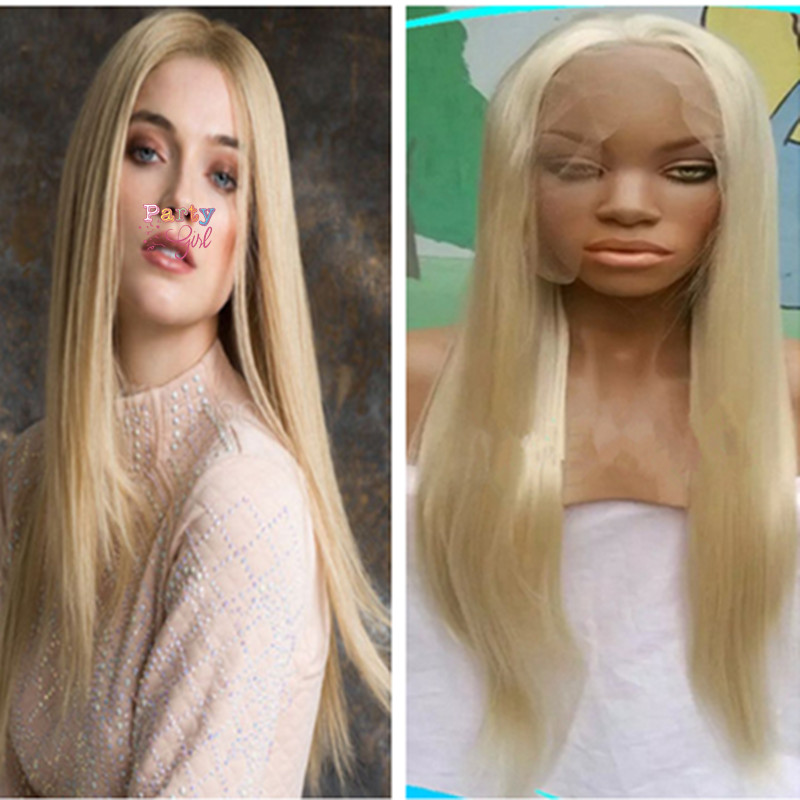 Long Straight Blonde Wigs Synthetic Lace Front Straight Wigs for Women