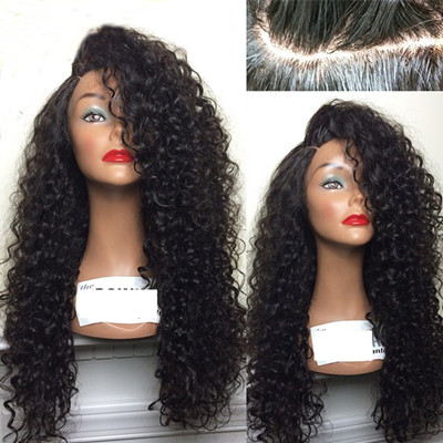 black curly wig lace front