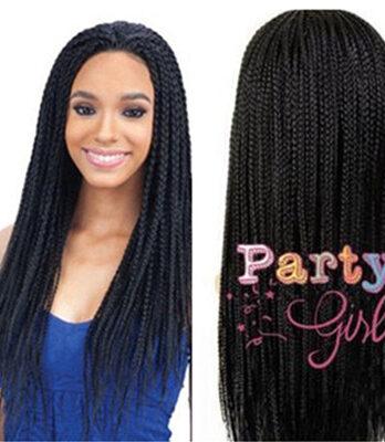 Long black braided wigs