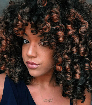 short brown afro curly wigs