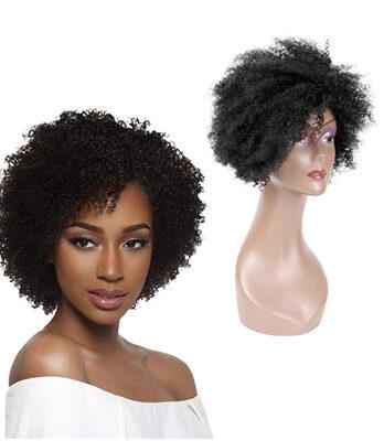 kinky curly human hair wig
