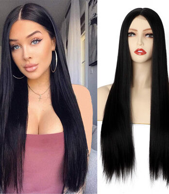 lace front straight wig