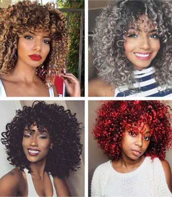 short afro kinky curly wigs for black women